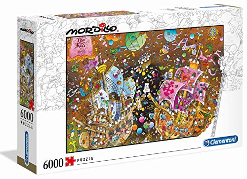 Clementoni - 36527 - Mordillo Puzzle - The Kiss - 6000 Pezzi...