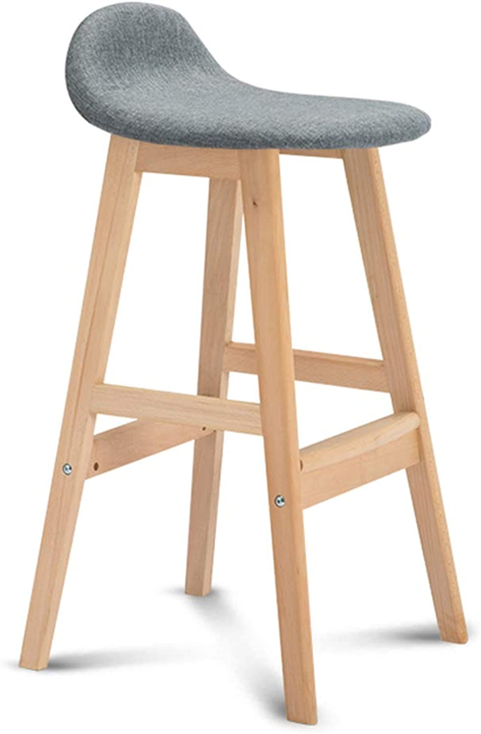 With Backrest Dining Chairs Bar Stools Bar Pub High Stools Bar Chairs Counter Stool Chairs Set High Stool Leisure Simple Nordic for Cafe