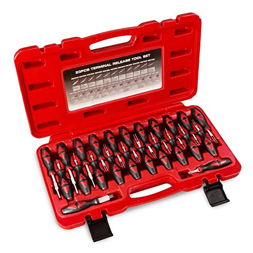 KFZ Auspinwerkzeug 23-teilig – Entriegelungswerkzeug mit Koffer - Ausdrückwerkzeug Auspinnwerkzeug Auspin Set Endauswerfer