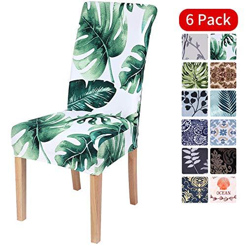 Homaxy Universal Stretch Stuhlhussen 2er 4er 6er Set Stuhlbezug für Stuhl Esszimmer (6er Set, Style 11)