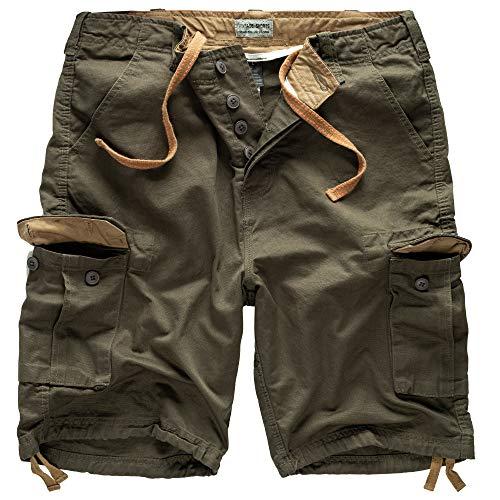Surplus Raw Vintage Herren Cargo Vintage Shorts, Oliv, L