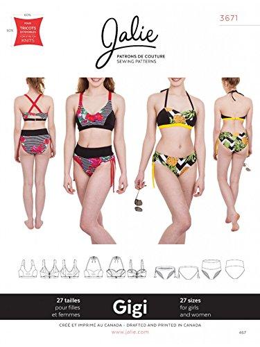 Jalie Damen & Mädchen Schnittmuster 3671 Gigi Bikinis