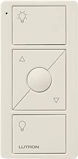 Lutron 3-Button with Raise/Lower Pico Remote for Caseta Wireless Smart Dimmer Switch, PJ2-3BRL-LA-L01R, Light Almond