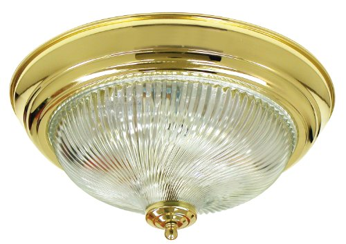 Monument 671358  Surface Mount Ceiling Fixture, Polished Brass, 12-3/4 In.