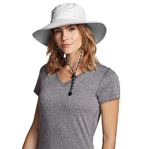 Eddie Bauer Women's Exploration UPF Wide Brim Hat, White Regular S/M