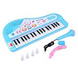 ピアノおもちゃ 37鍵 電子ミニピアノ マイク付き 多機能音楽 赤ちゃん おもちゃ 電子キーボードのピアノ 音楽玩具 電子ピアノ 教育玩具 子供 モデル