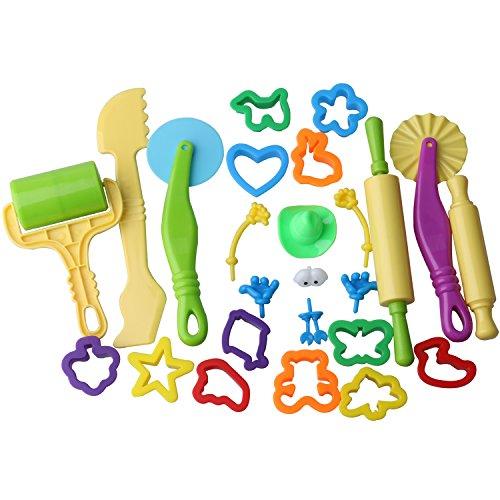 Olen Utensili Plastilina per Bambini e Accessori Plastilina Modellabile Argilla e Pasta Modellabile Set di 25