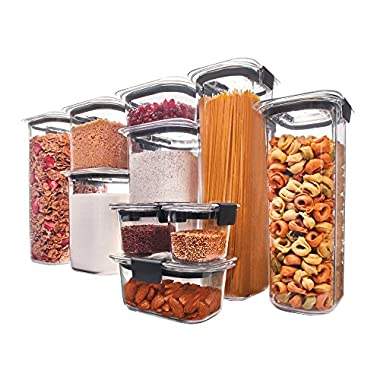 Rubbermaid Brilliance Pantry Airtight Food Storage Container, BPA-free Plastic, 20-Piece set