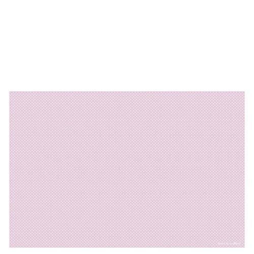 Laroom Alfombra Vinílica Infantil Diseño Puntos, Vinilo Antiliscante, Rosa, 133x200 cm
