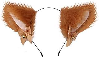 Uposao Plysch kattöron hårband