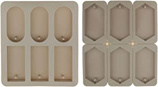 Baoblaze 2 Pieces DIY Silicone Mold Dried Flower Ornaments Wax Candle Making Jewelry Mould
