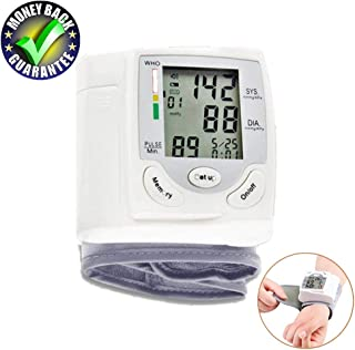 VENTDOUCE Fully Automatic Wrist Blood Pressure Cuff Monitor