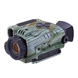 BOBLOV P4 Night Vision Monocular with 8GB Card 5X Digital Zoom Infrared Portable Night Vision Scope 200Yards Visible 1.5inch Screens for Hunting Forest Observe Wildlife Secenery (Black) (Camouflage)