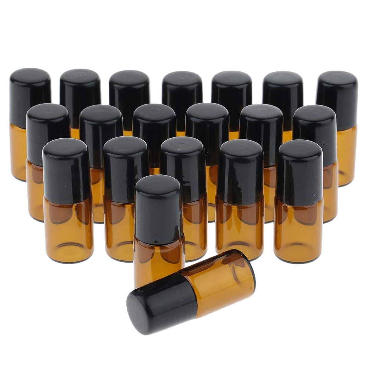 ペレット短くするうるさい約20個 詰め替えボトル エッセンシャルボトル エッセンシャルオイル ローラーボトル 全3サイズ - 1ml