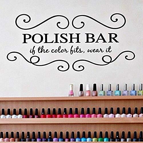stickers muraux fée clochette Ongles Salon Salon de beauté pour filles - Bar polonais - Spa pour salon de coiffure