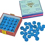 YOTINO 50Pcs Azul Billar Tiza Estándar Snooker Cue Tips Puntas de Repuesto de Billar con...