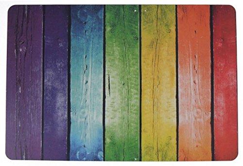 Schreibtischunterlage Motiv: bunter Zaun rot, grün, gelb, blau, lila 40 x 60 cm abwischbar