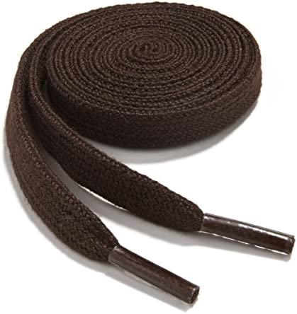 OrthoStep Narrow Flat Athletic 45 inch Brown Shoelaces High Durability Shoes and Sports Laces product image