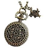 Alice in Wonderland Tea Party Steampunk Pocket Watch Necklace srr