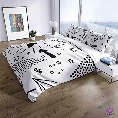 Flutterfly Duvet Cover King Size superk Duvet Cover Queen superk Bedding Set Bed Set Queen housse de couette superking Neo Memphis (64-1113)