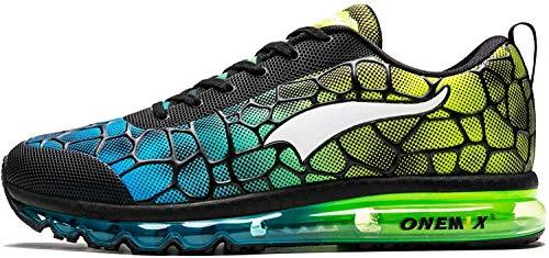 ONEMIX - Zapatillas de Deporte para Hombre y Mujer, con cojín de Aire, para Gimnasio, Deporte, atlético, Correr, Fitness, Color Turquesa, Talla 39 EU