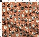 Schaf, Orange, Bucketfeet Gebirgstiere Stoffe - Individuell