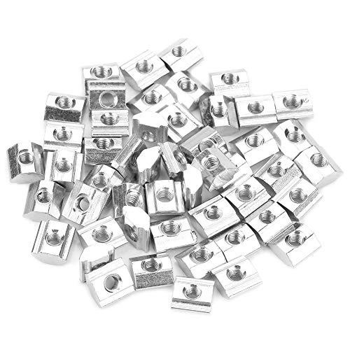 Tuerca - Tuerca de ranura en T deslizante de acero al carbono 50 piezas para accesorios de aluminio serie 20 M-4 * 10 * 5