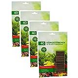 com-four® Varillas de Fertilizante 160x - Fertilizante de Flores para Plantas Verdes y Plantas con Flores - Fertilizante de Plantas para el Crecimiento y Flores saludables