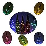 12 Stück 2M LED Flaschen Licht Mehrfarben Flaschenlicht Weinflaschen Lichter 20er LED Kork Flasche Lichterkette für DIY Party, Dekor, Weihnachten, Halloween, Hochzeit oder Stimmung Lichter
