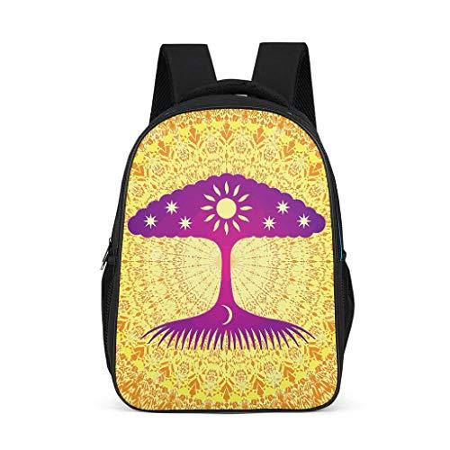 Charzee Bright Background patroon schoolrugzak laptop praktische backpack meisjes jongens & dames heren dagrugzak vrijetijdsrugzak voor meer opbergruimte reizen met zijzakken Bright Background