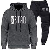 Photo de Star Labs Unisexe Homme Ensemble Pantalon de Sport Sweatshirt à Capuche Jogging Survêtement (6,EUM(AsianL))
