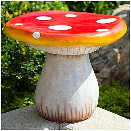 UniGiraffe Tables et chaises de Champignons Courtyard Jardin Décoration, Statue de pelouse, Sculpture de Jardinage, Ornements créatifs en Plein air (Color : Red, Size : 60 * 50cm)