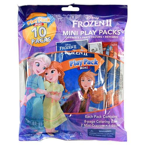 Frozen 2 Mini Play Packs 10-Pack with Crayons and Stickers