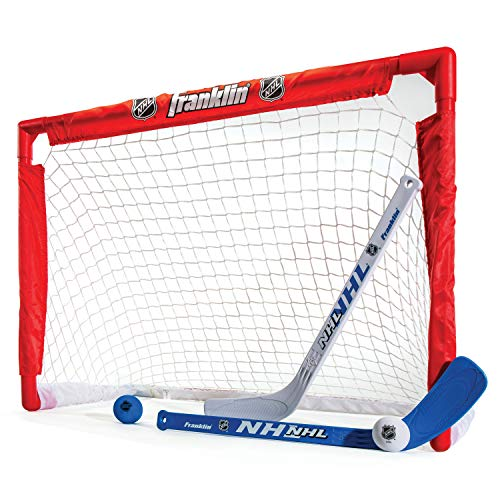 Franklin Sports Indoor-Outdoor Youth Mini Hockey Goal-Stick Set For Kids