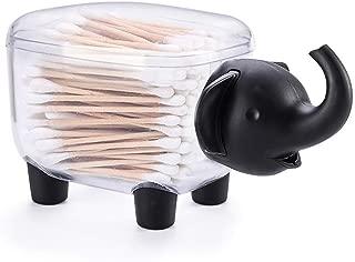 Porlik Creative Q-Tip Holder Toothpick Box - Elephant Shape Storage Organizer for Cotton Swab,Toothpick and More