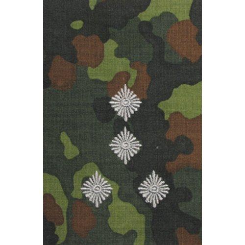 Unbekannt 1 Paar Bundeswehr Rangabzeichen Flecktarn/Silber Rangschlaufe Rangschlaufen Abzeichen Schlaufe Verschiedene Dienstgrade (Stabshauptmann)