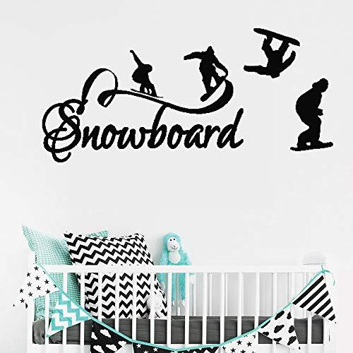 jiushivr Skateboard Kurve Text Entfernbare Wandaufkleber für Kinderzimmer Jungen Wohnkultur wasserdichte Vinyl Aufkleber Schlafzimmer Zitat 23x57cm