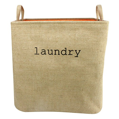 Household Linen Collapsible Large Size Laundry Hamper with Two Handles Heavy Duty and Durable Collapsible and Self Standing as Laundry Basket 17 x 133 x 165inch Large Linen