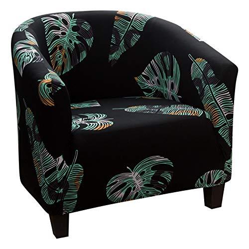 laamei Funda Elástica para Sillón Funda de Sofá Individual Sofá Sala de Estar 1 Asient Impresión Estampado Floral (impresión#2)