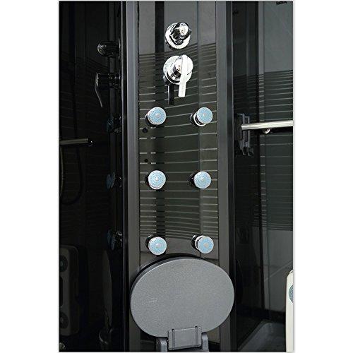 Home Deluxe Black Pearl 120×80 cm links Duschtempel, inkl. Dampfsauna und komplettem Zubehör - 4