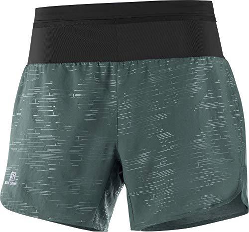 Salomon Damen 2-in-1 Sport-Shorts mit Innenhose, XA SHORT, Polyester/Elastan, grün (green gables/black), Größe: M, LC1287700