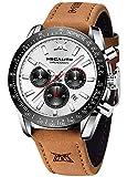 Orologio Uomo Pelle MEGALITH Elegante Cronografo Orologi Da Polso Da Uomo Movimento al Quarzo Moda Sportivo Impermeabile Luminosi Calendario Orologio Uomo