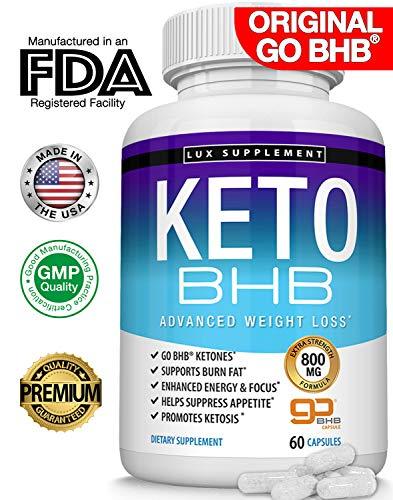 Keto Pills Advanced Weight Loss BHB Salt - Natural Ketosis Fat Burner...