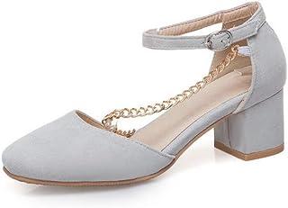 BalaMasa Womens ASL06264 Pu Block Heels
