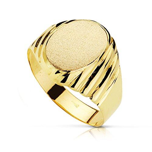 Herren-Ring Bendetto. Männer Schmuck Gold Gelb 18K/750. Men Ring Juwel eingraviert personalisiertes