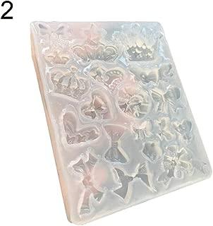 TYewa98556 Paw Bone Crown Heart Shape Epoxy Resin Silicone Mold DIY Jewelry Making Decor - 2#