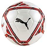 PUMA teamFINAL 21.5 Hybrid Ball Balón de Fútbol, Unisex Adulto, White Red Black, 5