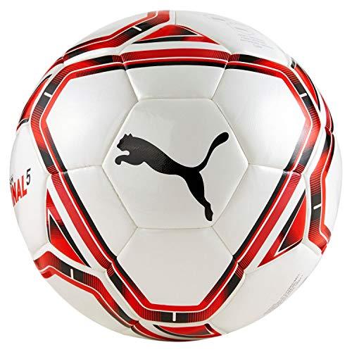 PUMA Unisex– Erwachsene teamFINAL 21.5 Hybrid Ball Fußball, White Red Black, 3