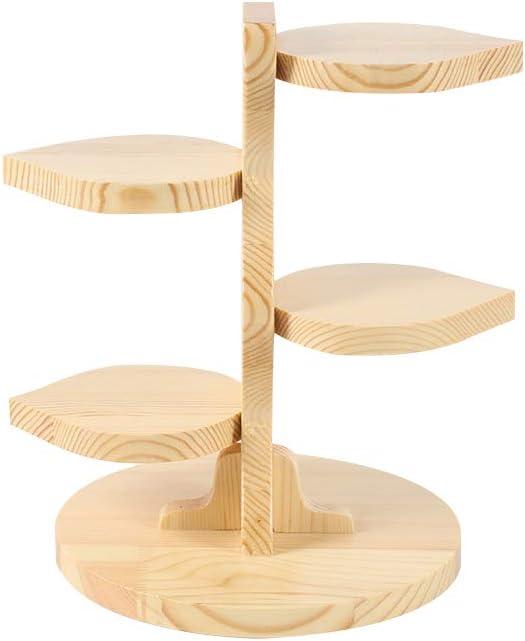 低価格 HEFUTE 値下げ 4 Tier Premium Wood Cake Des Cupcakes Tower Stand Display