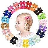 40 stücke 2'Baby Mädchen Haarbögen Ripsband Bögen Haarspangen Haarspangen für Mädchen Jugendliche Kinder Babys Kleinkind In Paare